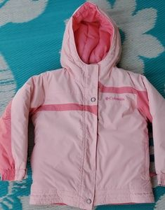Like New! Girls Columbia Pretty Pink Coat Sz 4/5